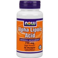 Now Foods Alpha Lipoic Acid 250 Mg 60 Vegetable Capsules