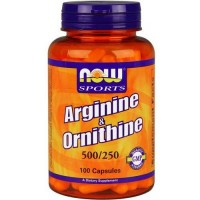 Now Foods Arginine / Ornithine 100 Capsules