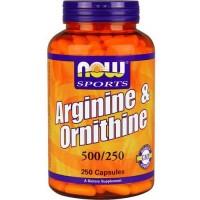 Now Foods Arginine / Ornithine 250 Capsules