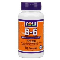 Now Foods B-6 100 Mg 100 Capsules