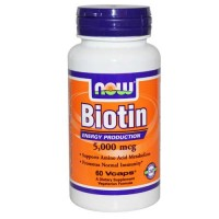 Now Foods Biotin 5000 Mcg 60 Vegetable Capsules