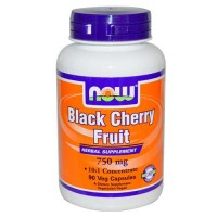 Now Foods Black Cherry Extract 750 Mg 90 Vegetable Capsules