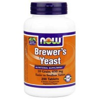 Now Foods Brewers Yeast 10 Grain 200 Tablets