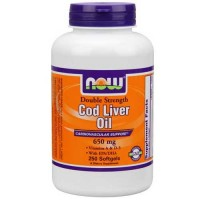 Now Foods Cod Liver Oil 650 Mg 250 Softgels
