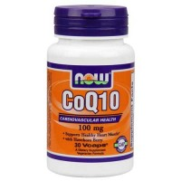 Now Foods CoQ10 100 Mg 30 Vegetable Capsules