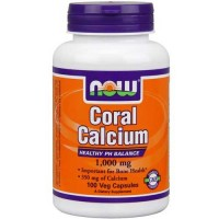 Now Foods Coral Calcium 1000 Mg 100 Vegetable Capsules