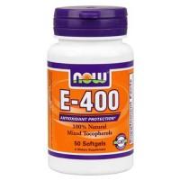 Now Foods E-400 Mixed Tocopherols 50 Softgels