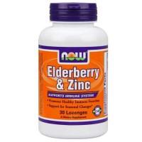 Now Foods Elderberry & Zinc 30 Lozenges