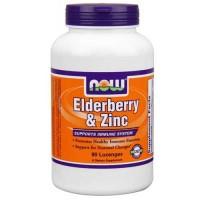 Now Foods Elderberry & Zinc 90 Lozenges