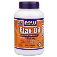 Now Foods Flax Oil Organic 1000 Mg 100 Softgels