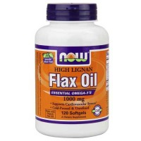Now Foods Hi-Lignan Flax Oil Organic 120 Softgels
