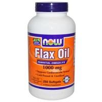 Now Foods Flax Oil Organic 1000 Mg 250 Softgels