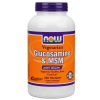 Now Foods Veg Gluc & Msm 500/500 240 Vegetable Capsules