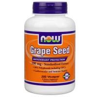 Now Foods Grape Seed Anti 100 Mg 200 Vegetable Capsules