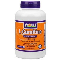 Now Foods Carnitine Tartrate 1000 Mg 100 Tablets