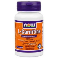 Now Foods L-Carnitine 500mg 30 Vege Caps