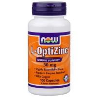 Now Foods L-Optizinc 30 Mg + Copper 100 Capsules