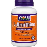 Now Foods Ornithine 500 Mg 120 Capsules