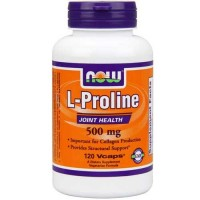 Now Foods L-Proline 500mg 120 Vege Caps