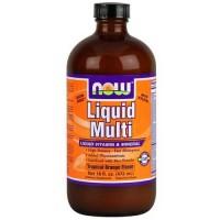 Now Foods Liquid Multi Orange Flavored 16 Oz