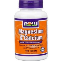 Now Foods Mag & Calcium 2:1 Ratio 100 Tablets