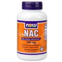Now Foods NAC 600 Mg 100 Vegetable Capsules