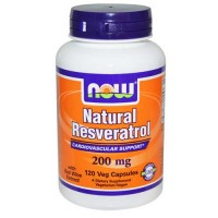 Now Foods Natural Resveratrol 200 Mg 120 Vegetable Capsules