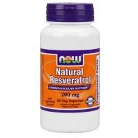 Now Foods Natural Resveratrol 200 Mg 60 Vegetable Capsules