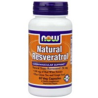 Now Foods Natural Resveratrol 50 Mg 60 Vegetable Capsules