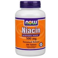 Now Foods Niacin 500 Mg TR 250 Tablets