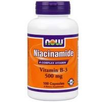 Now Foods Niacinamide 500 Mg 100 Capsules