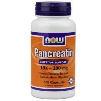 Now Foods Pancreatin 2000 Mg 100 Capsules