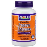 Now Foods Papaya Enzyme Chewable 180 Tablets