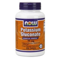 Now Foods Potassium Gluconate 99 Mg 250 Tablets