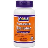 Now Foods Potassium Plus Iodine 180 Tablets
