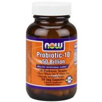 Now Foods Probiotic-10 50 Billion 50 Vegetable Capsules