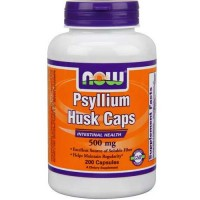 Now Foods Psyllium Husk 500 Mg 200 Capsules