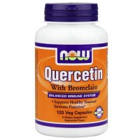 Now Foods Quercetin With Bromelain 120 Vegetable Capsules
