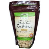 Now Foods Organic Cashews Raw 10 Oz
