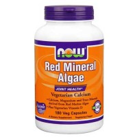 Now Foods Red Mineral Algae (Aquamin) 180 Vegetable Capsules