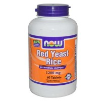 Now Foods Red Yeast Rice Extract 1200 Mg 60 Tablets