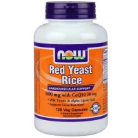 Now Foods Red Yeast Rice 600mg & CoQ10 30mg  120 Vegetable Capsules