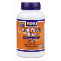 Now Foods Red Yeast Rice 600 Mg Org 120 Vegetable Capsules