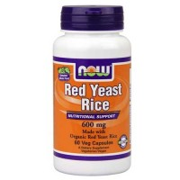 Now Foods Red Yeast Rice 600 Mg Org 60 Vegetable Capsules