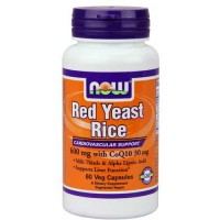 Now Foods Red Yeast Rice & CoQ10 60 Vegetable Capsules