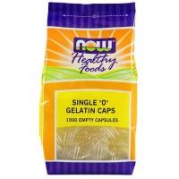 "Now Foods Single ""0"" Gelatin Caps 1000 Caps"