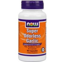 Now Foods Super Odorless Garlic 90 Capsules