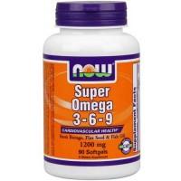 Now Foods Super Omega 3-6-9 1200 Mg 90 Softgels
