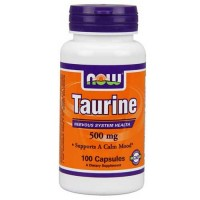 Now Foods Taurine 500mg 100 Caps