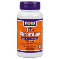 Now Foods Tri-Chromium 500 Mcg + Cinnam 90 Vegetable Capsules